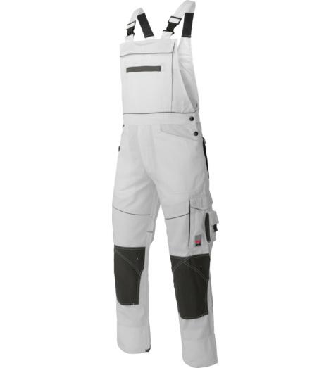 STylische, moderne und robuste Arbeitslatzhose, aus Baumwolle und Polyester, Cordura Knietaschen EN 14404, für Maurer und Stuckateure