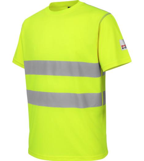 Foto van Würth MODYF microporeus high-visibility werkshirt, geel