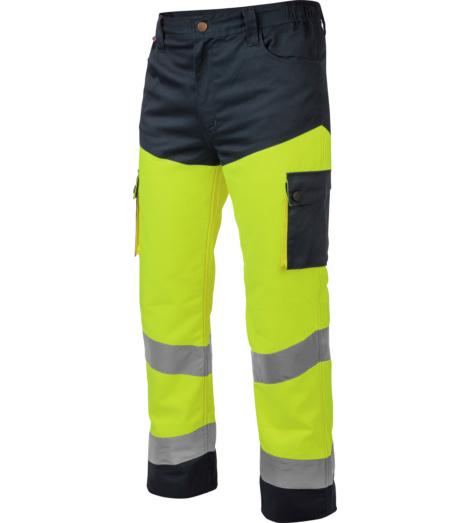 Photo de Pantalon de travail Würth MODYF haute-visibilité jaune/marine