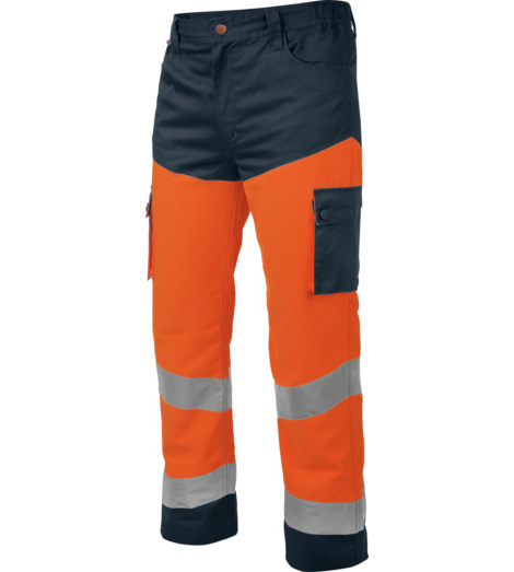 Photo de Pantalon de travail Würth MODYF haute-visibilité orange/marine