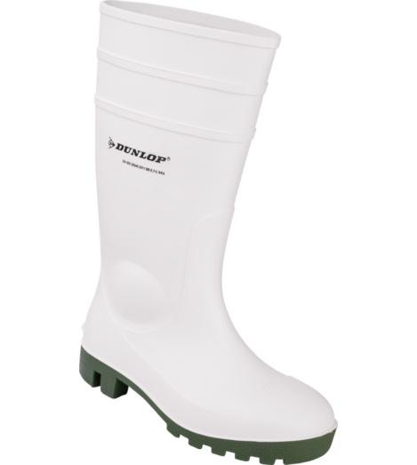 Photo de Bottes de travail Dunlop Protomastor blanches/vertes