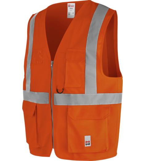 Foto von Warnweste Multipocket EN ISO 20471 Klasse 2 orange