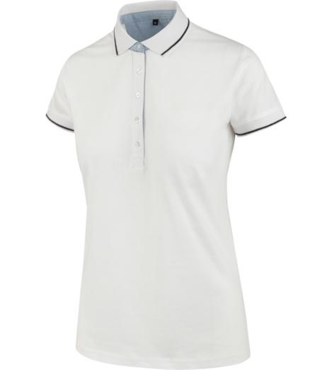 Foto von Poloshirt Jersey Damen weiß