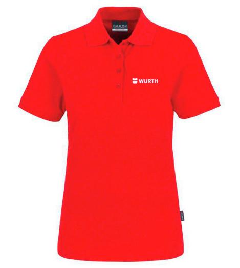 Foto von Poloshirt Classic Damen Rot mit Würth Logo