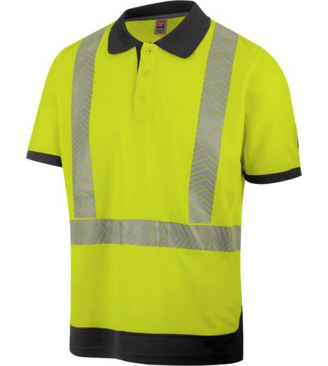 Foto von Warnschutz Poloshirt FLUO EN 20471 gelb anthrazit