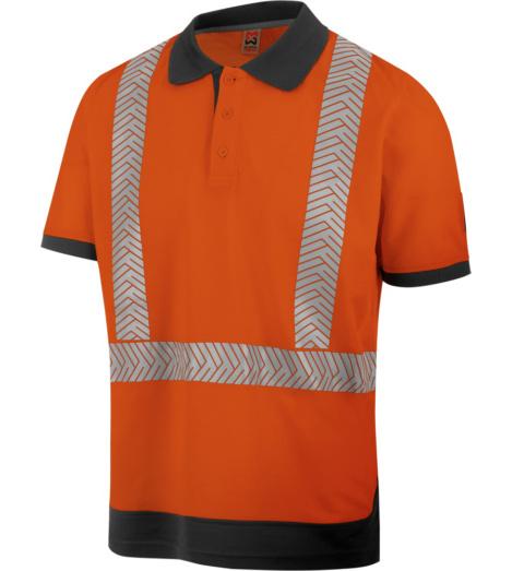 Foto von Warnschutz Poloshirt FLUO EN 20471 orange anthrazit