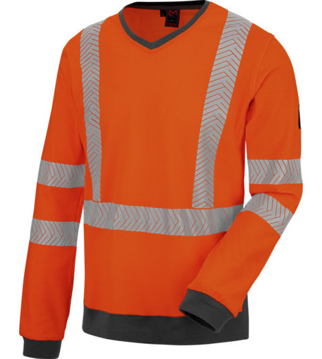 Foto von Warnschutz Langarmshirt FLUO orange anthrazit