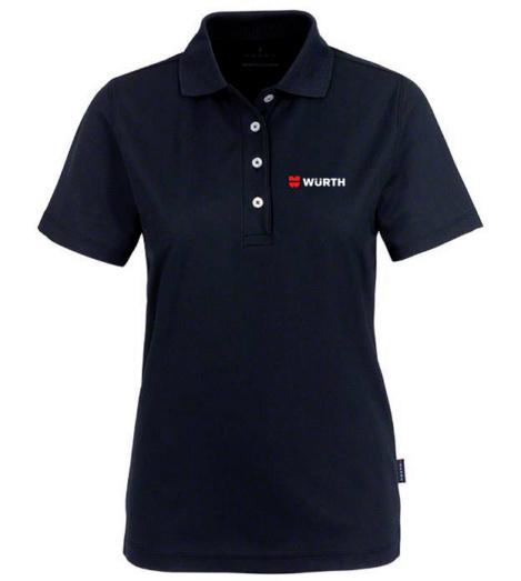 Foto von Poloshirt Coolmax Damen schwarz mit Würth Logo