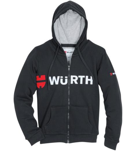 Foto von Sweatjacke Herren schwarz mit Würth Logo