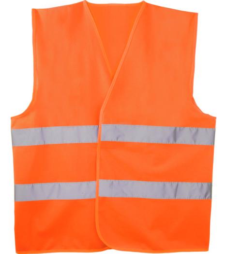foto di Gilet alta visibilità arancione
