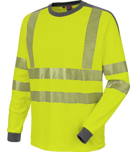 Foto von Warnschutz Langarmshirt Neon gelb