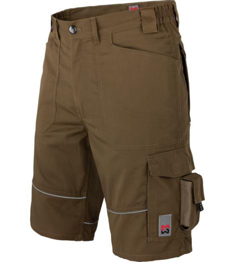 Arbeitsbermuda in Oliv, angenhemer Tragekomfort, Shorts für den Sommer, elastischer Bund, sportlicher Look