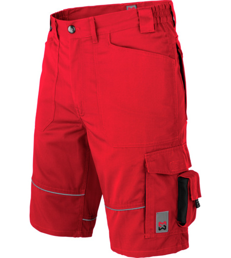 Photo de Bermuda de travail Starline Plus Würth MODYF rouge