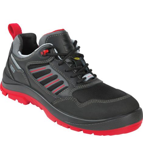Arbeitsschuh S3, ESD Ausstattung, schwarz & rot, Flexitec Technologie, atmungsaktiv, aus hochwertigem Vollleder, modernes & sportliches Desig, DGUV zertifiziert