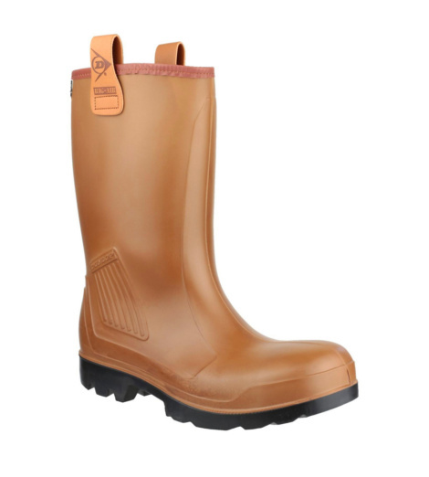 Photo de Bottes de sécurité S5 SRA CI Purofort Rig-Air Dunlop marrons