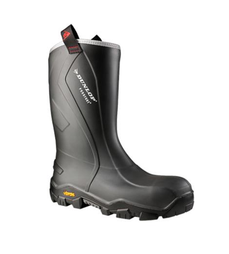 Photo de Bottes de sécurité S5 SRC CI HRO CR Purofort + Reliance Dunlop anthracites