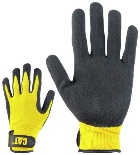 Foto van Nylon handschoenen Caterpillar met nitril coating CAT17416 Zwart
