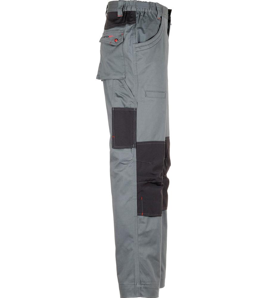 3c5c661fa360 ... foto di Pantalone da lavoro elastico grigio Stretchfit ...