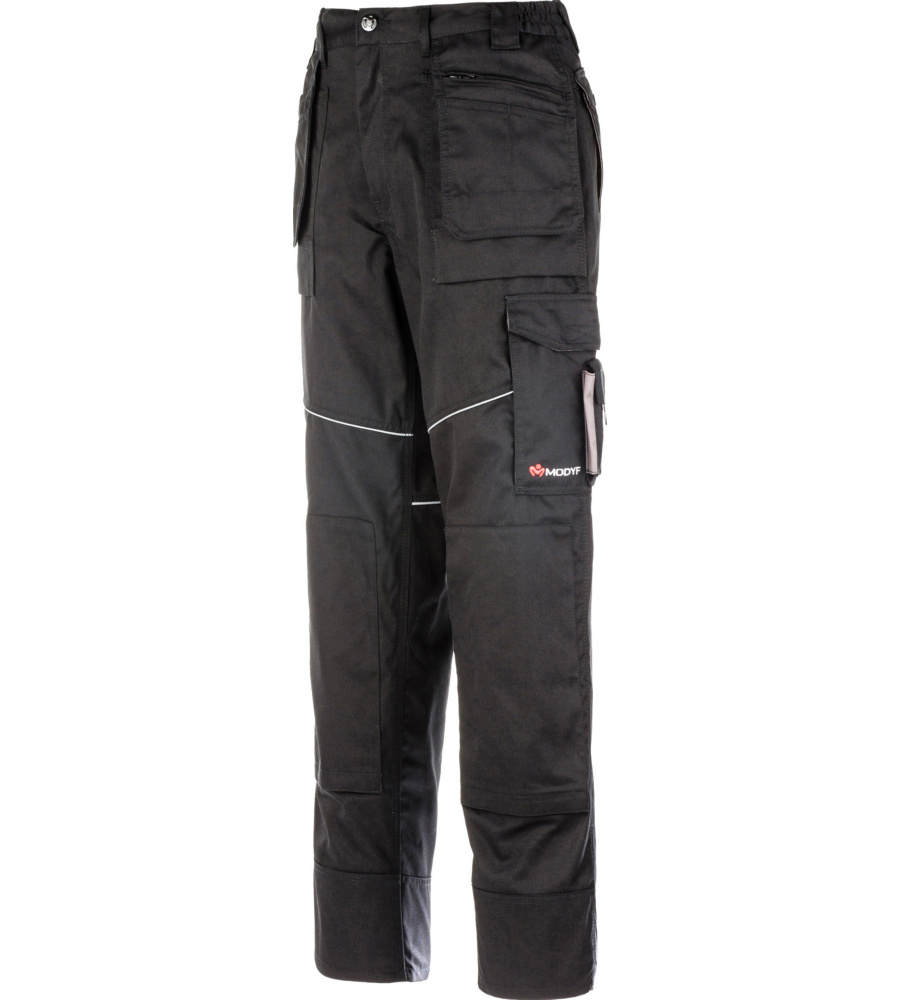 Pantal n de trabajo multibolsillos black for Pantalones de trabajo multibolsillos