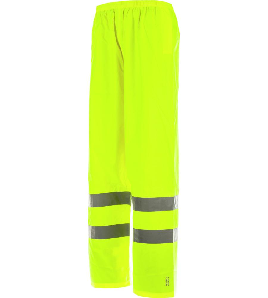 Pantalon De Pluie Haute Visibilité En 20471 1.2 Et En 343 3.1 Würth Modyf Jaune (photo)