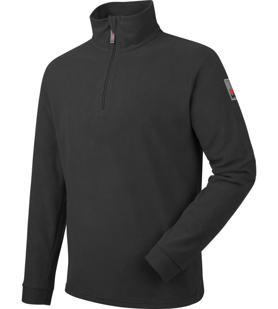 Sportlicher Microfleece-Pullover in schwarz für Handwerker