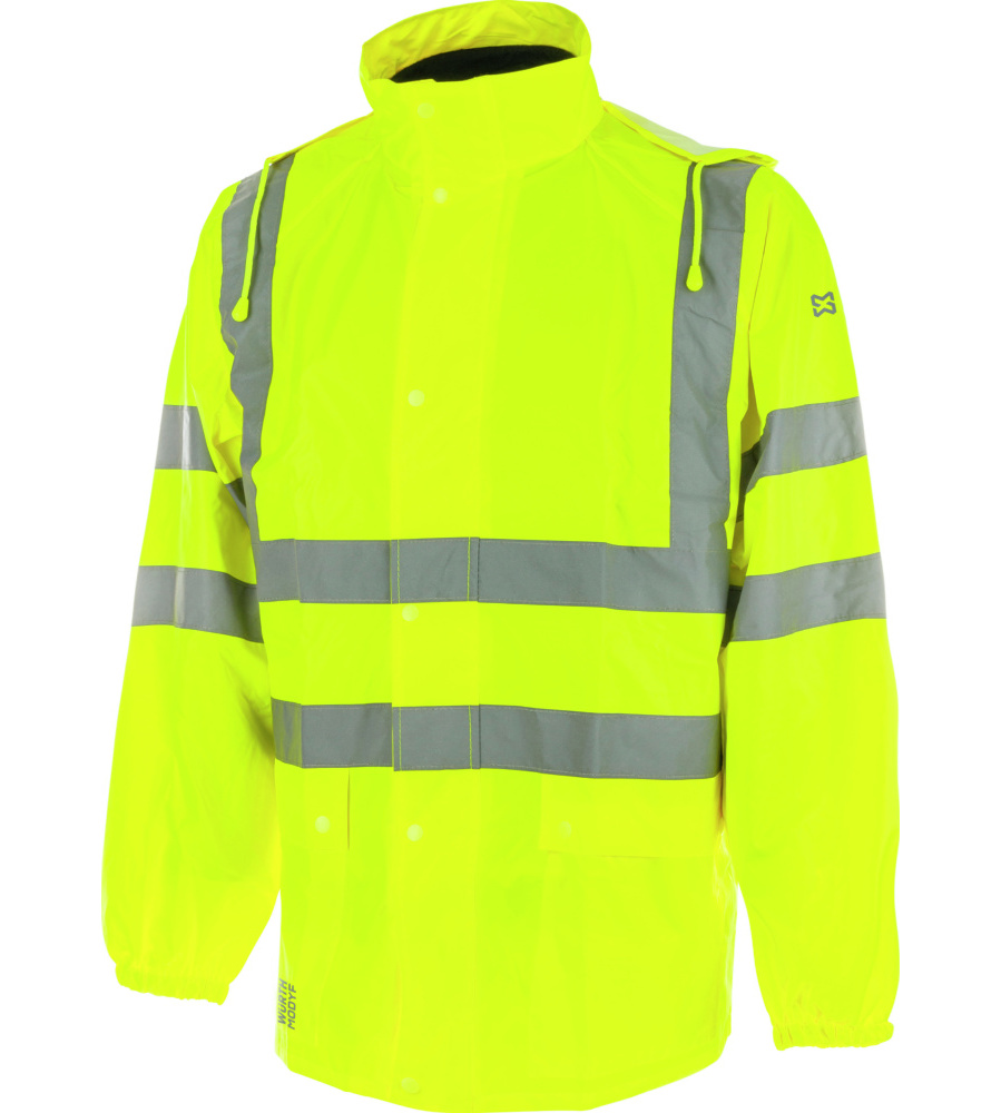 Warnschutzregenjacke leuchtgelb Gr Bekleidung & Schutzausrüstung XXL Funsport