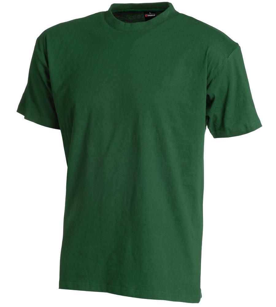 tee shirt de travail vert en coton personnalisable avec logo. Black Bedroom Furniture Sets. Home Design Ideas