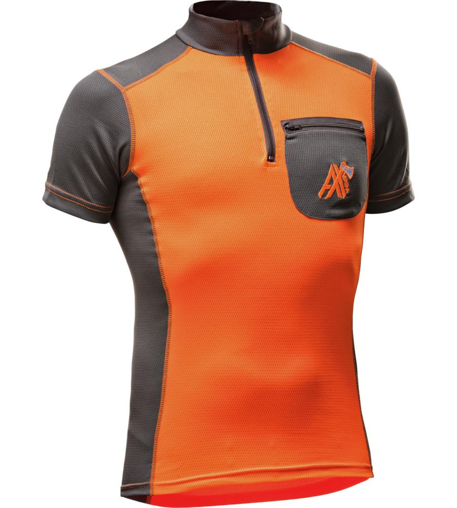 0c95dab0ae651 Sommer T-Shirt für Forst- und Waldarbeiter Orange und Grau