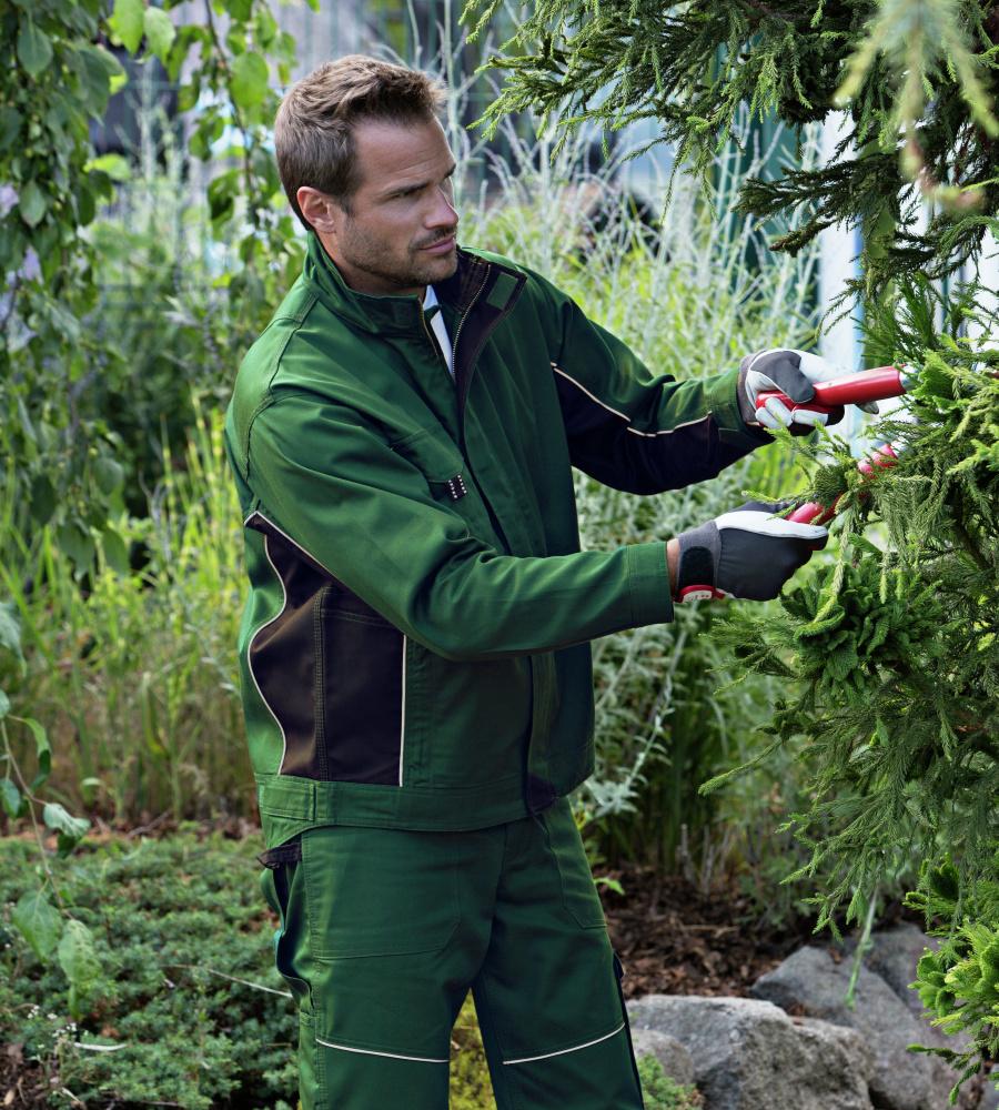 Veste de travail verte pour paysagistes et espaces verts for Travail espace vert