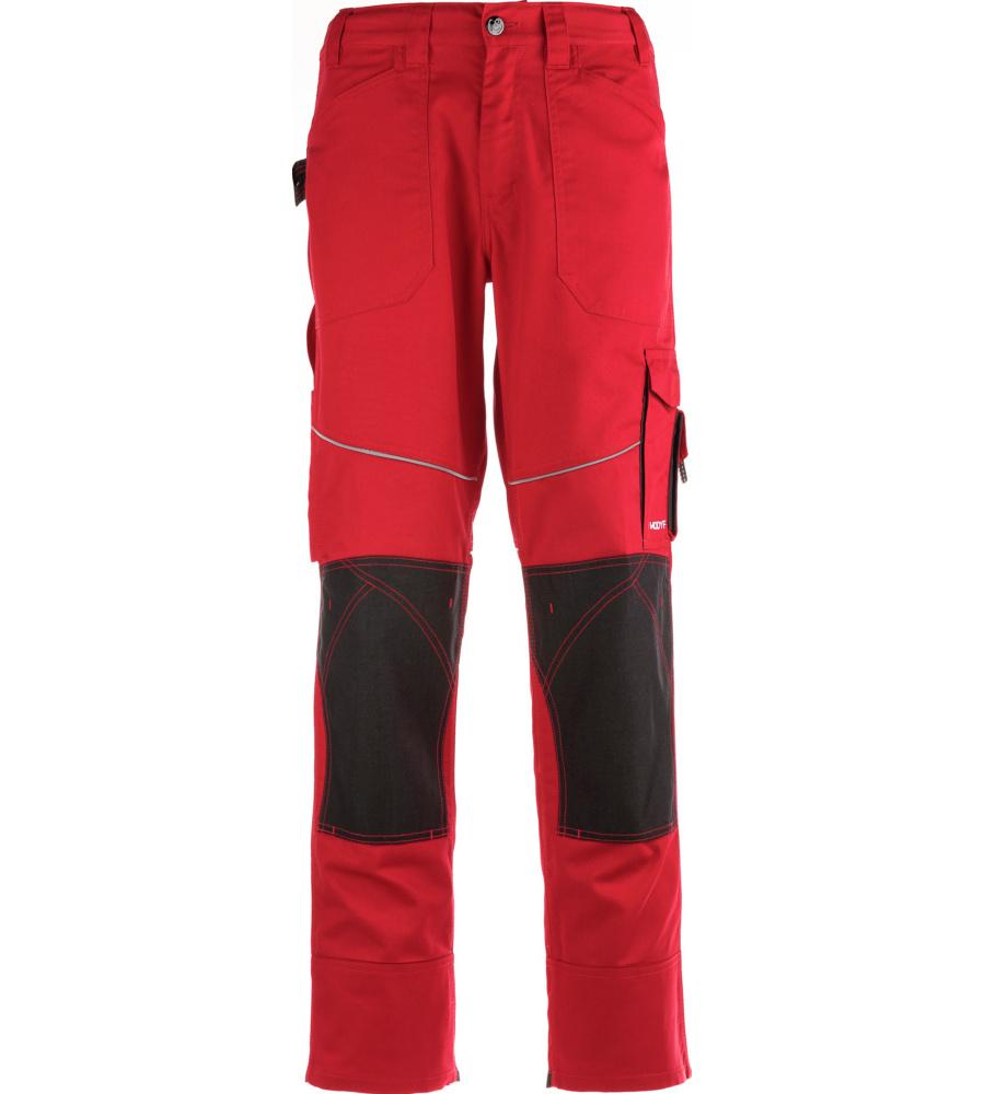 Pantalon pour professionnels rouge et noir confortable modyf for Pantalon de cuisine noir