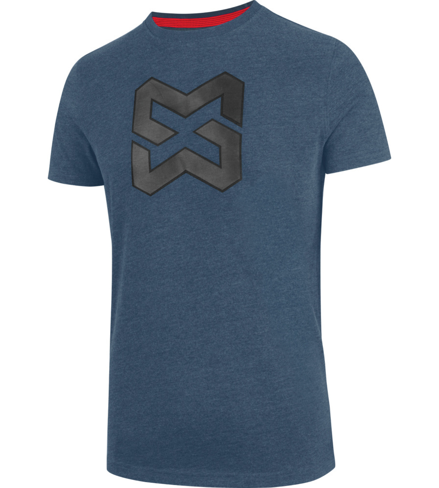2ed9800165e Tee-shirt de travail en coton bleu marine avec logo