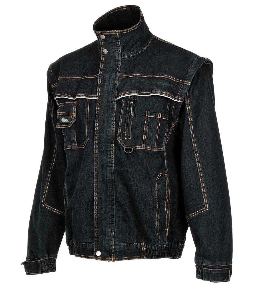 veste de travail denim style jeans aux manches amovibles. Black Bedroom Furniture Sets. Home Design Ideas