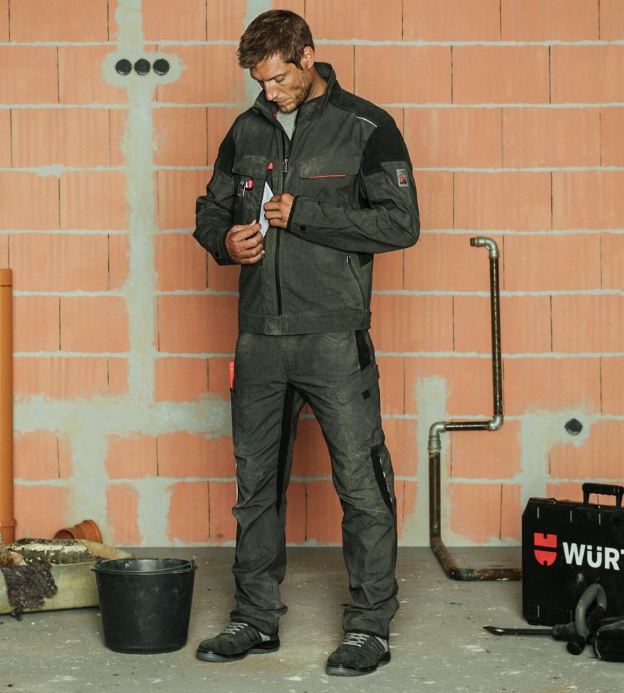 Bundhose One New Washed Anthrazit High Quality Materials Kleidung Arbeitskleidung & -schutz