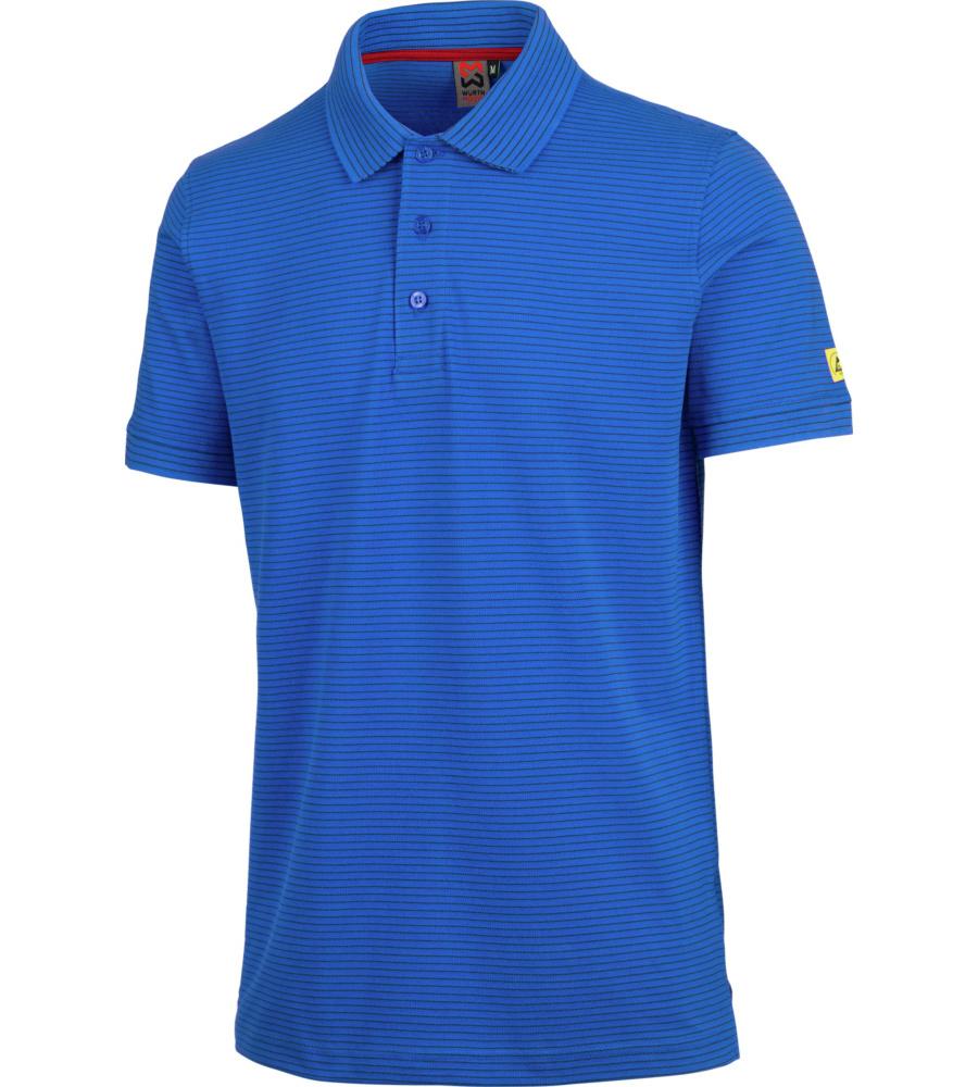 Blaues Arbeits Poloshirt mit Schutz für empfindliche Bauteile dce03dcc22