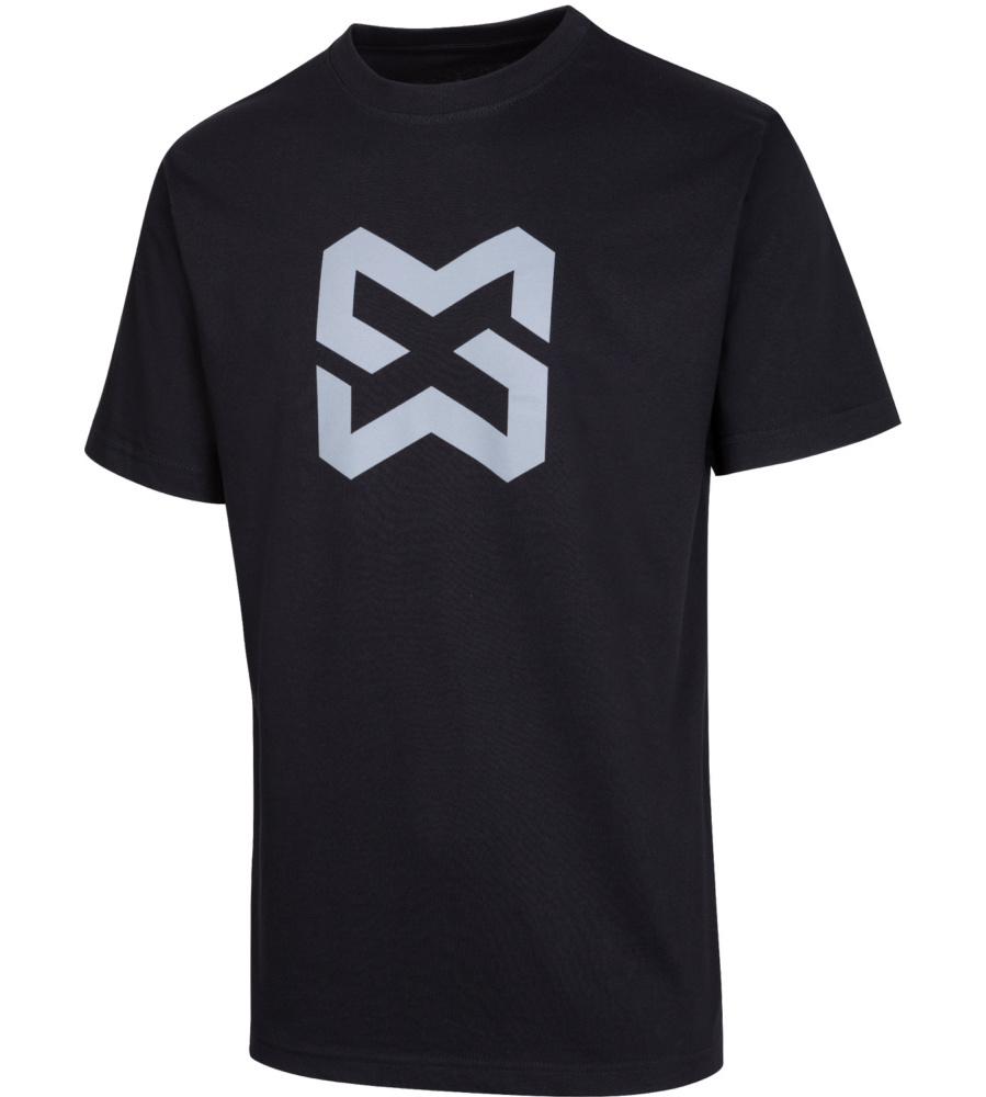 0452738f1d18e4 Schwarzes T-Shirt mit stylischem Design und hohem Tragekomfort