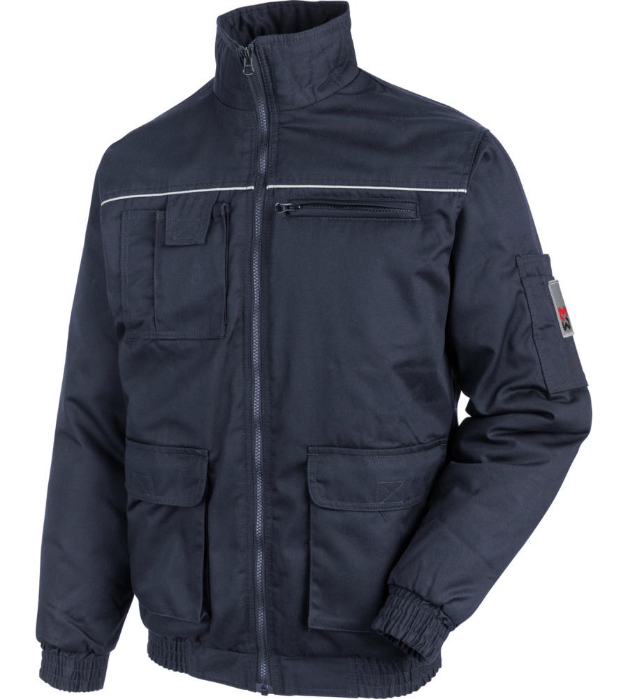 Günstige blaue Arbeitsjacke aus Mischgewebe, warm und bequem, aus  Mischgewebe, sehr pflegeleicht ... a5e89665e5