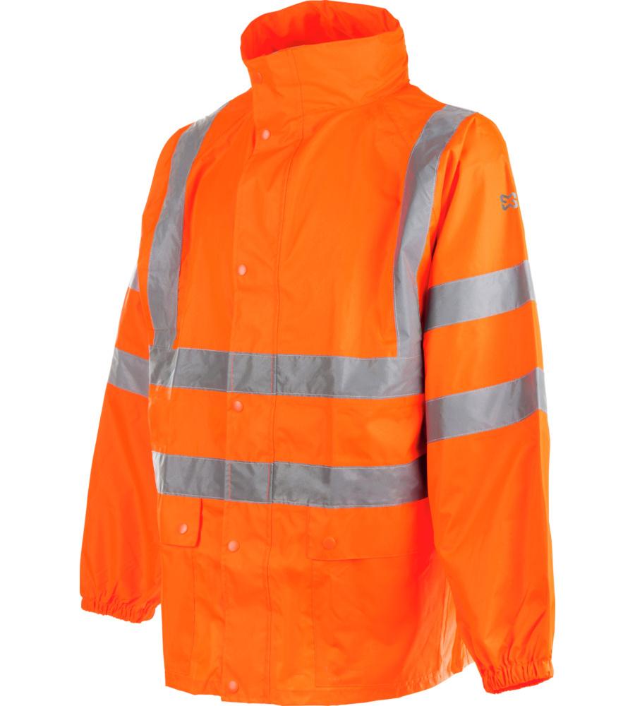 Veste de pluie orange fluo