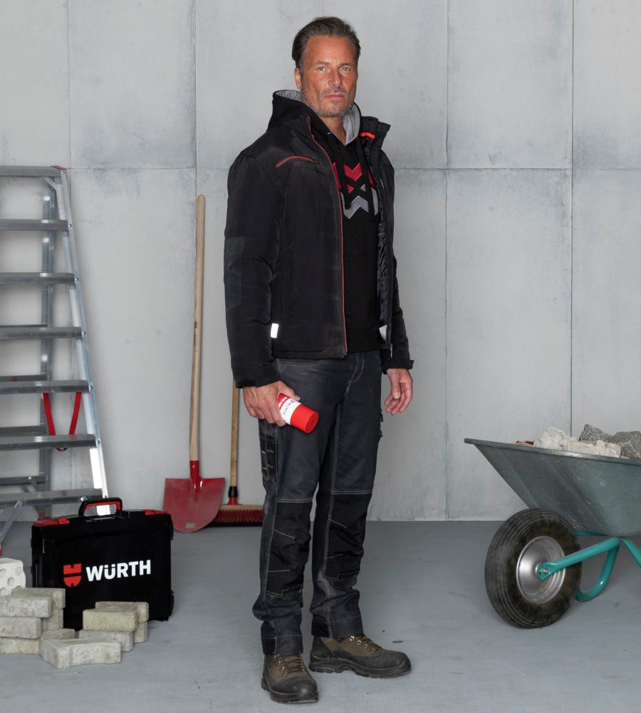 Jeans da lavoro nero da uomo elastico e resistente a strappi 88ff29d8a0e
