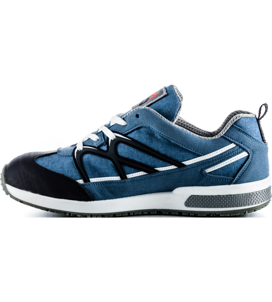 stylischer s1p sneaker mit stahlkappe in blau. Black Bedroom Furniture Sets. Home Design Ideas