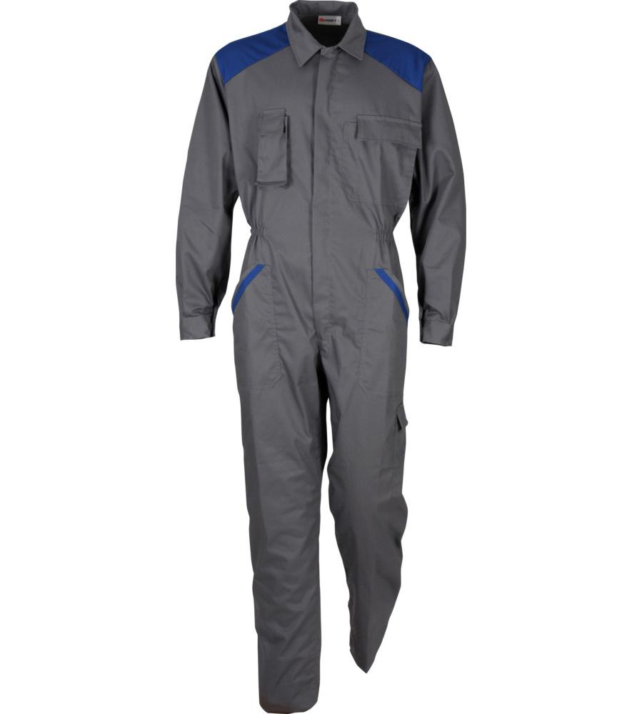 71a1946c911 Buzo de Trabajo Profi Gris/Azul Real