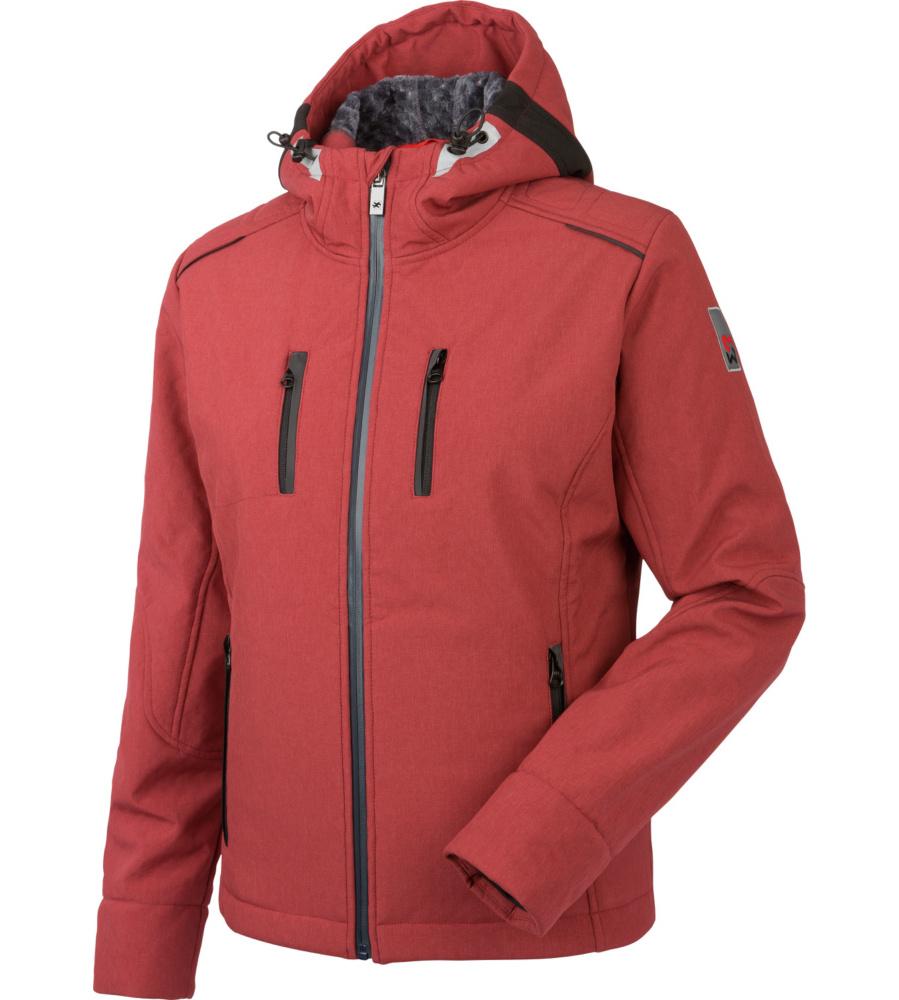 Giacca rossa invernale in Softshell con cappuccio staccabile c2a34b961a8a