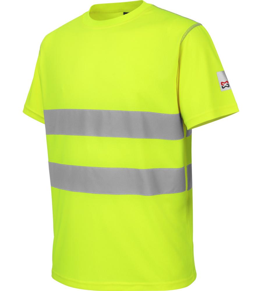 tee shirt de travail haute visibilit microporeux jaune w rth modyf. Black Bedroom Furniture Sets. Home Design Ideas