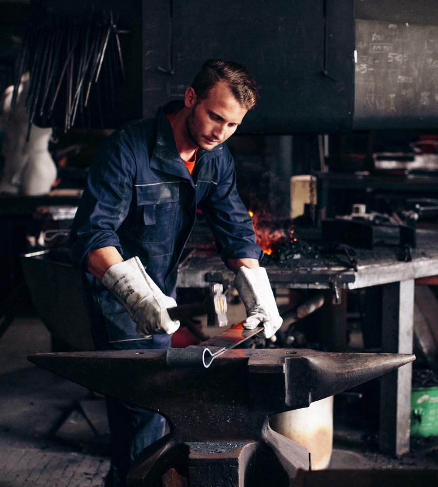 ... Blauer Arbeitsoverall für Handwerker, aus hochwertiger 100% Baumwolle,  günstig und bequem ... 1ea884d69b