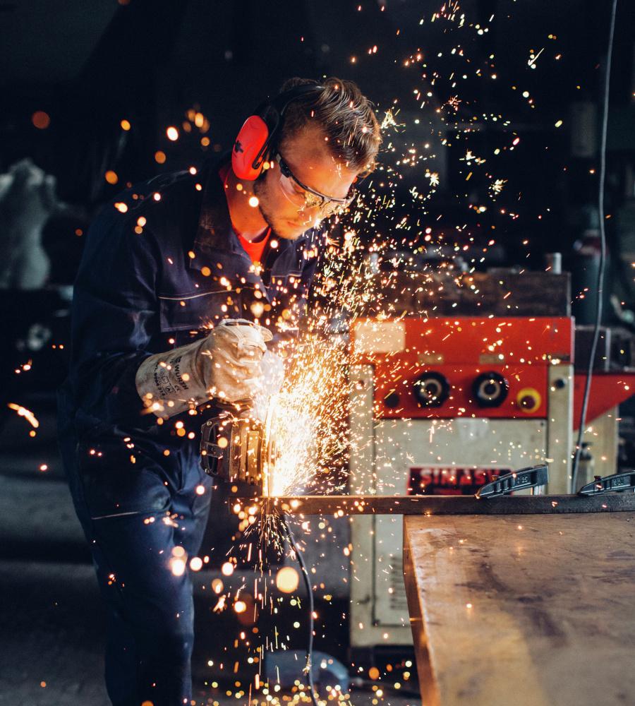 rbeitsoverall für Kfz-Handwerker, aus hochwertiger Baumwolle, günstig und  bequem, Farbe blau  Blauer Arbeitsoverall ... a3678b0cad