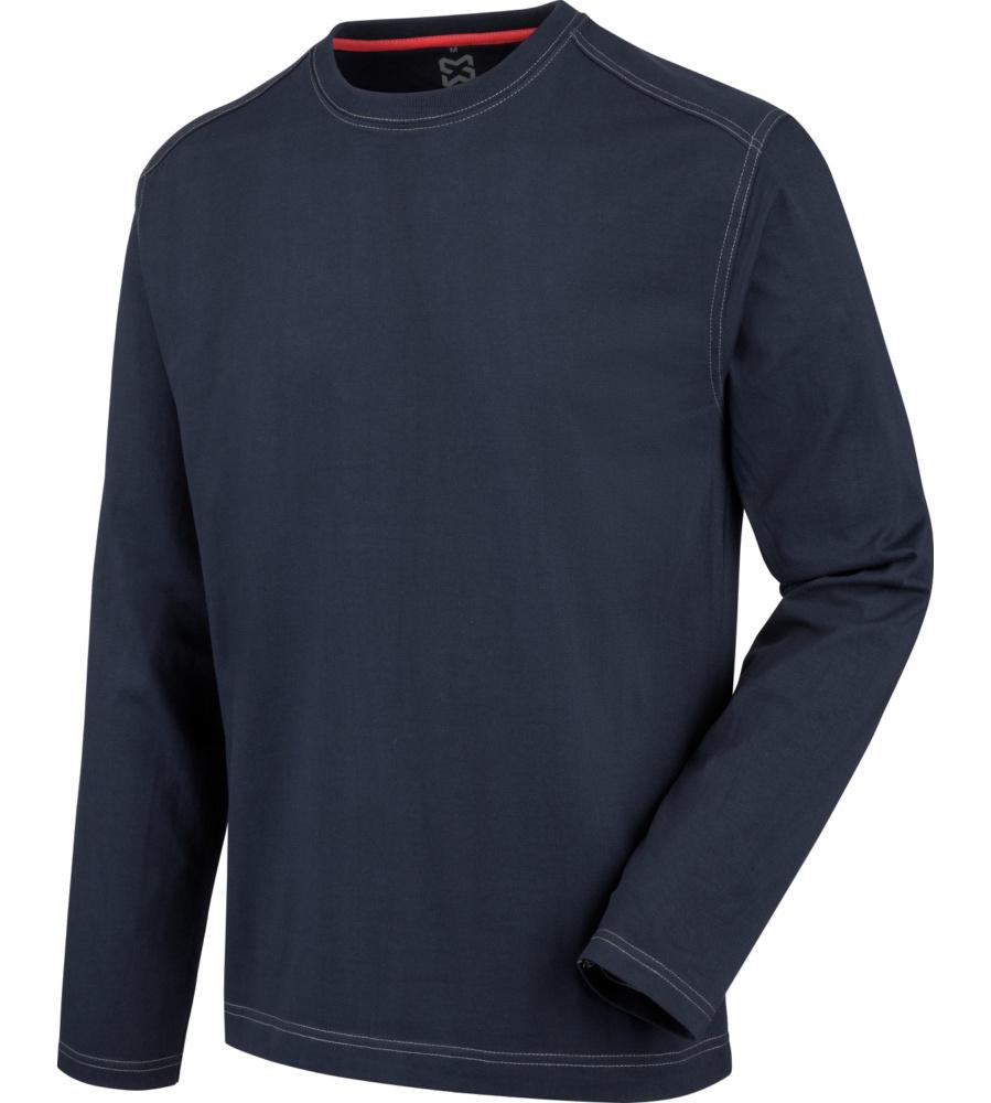 tee shirt pro manches longues bleu marine r sistant w rth modyf. Black Bedroom Furniture Sets. Home Design Ideas