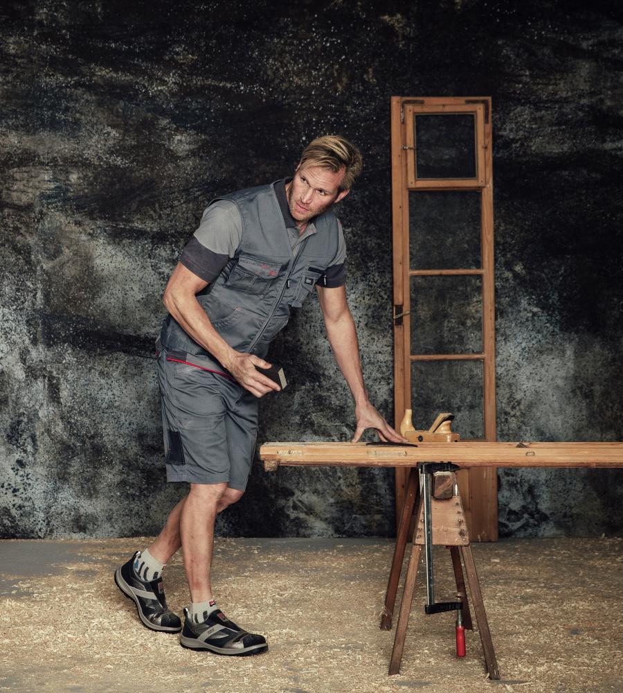 9e0c568ec20428 Elastisches Stretch Poloshirt in Grau für Handwerker