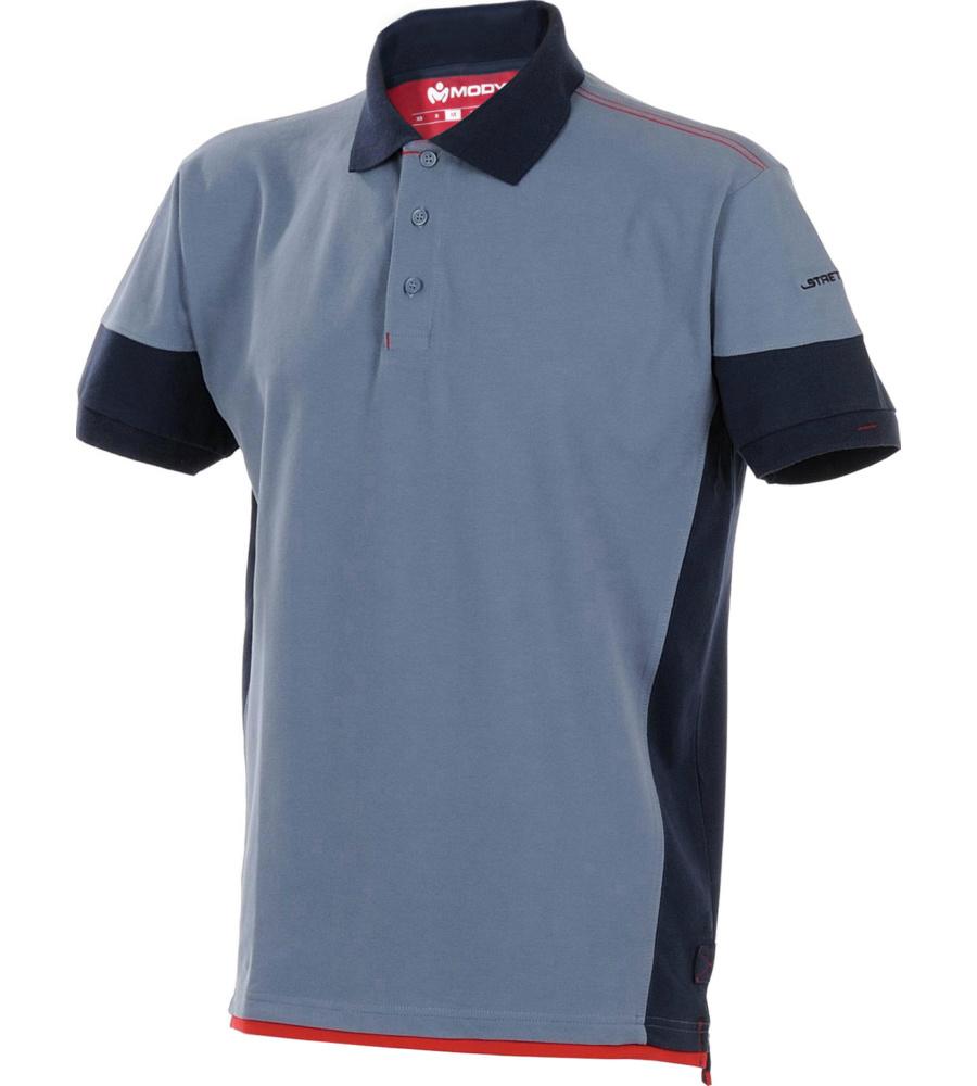 0fb0c10a7c7f2f Elastisches & bequemes Arbeits-Poloshirt in Blau