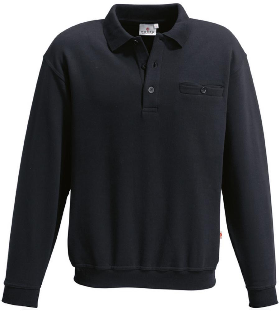 Modyf Herren Polo-Sweatshirt Hakro schwarz - Gr. L M050077002090 1