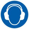 使用听力防护设备(指示标志)
