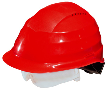 CASQUE DE CHANTIER PROTEK ROUGE